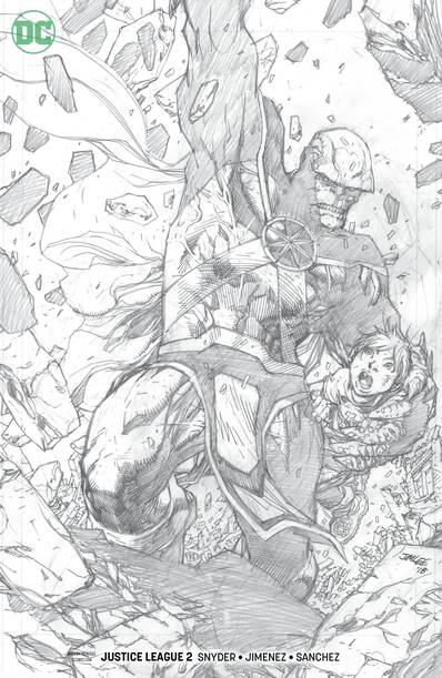 JUSTICE LEAGUE #2 JIM LEE PENCIL VAR